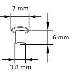 MN 3,8 Maschinen-Nieten Tubular rivets Zeichnung