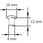 MN 4_10_12 Maschinen-Nieten Tubular rivets Zeichnung