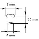 MN 4_8_12 Maschinen-Nieten Tubular rivets Zeichnung