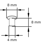 MN 4_8_8 Maschinen-Nieten Tubular rivets Zeichnung