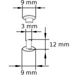 NN 3 12 G Doppel-Hohlnieten Rapid rivets Zeichnung