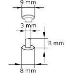 NN 3 Doppel-Hohlnieten Rapid rivets Zeichnung