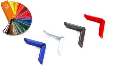 Buchecken farbig lackiert neu