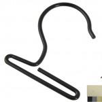 Kollektionshaken mit gebogenem Fuß schwarz Art.Nr.: 8005 S
