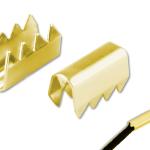 Kordelklammern passiviert (goldfarben) Art.Nr.: 125 SR VM