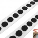 Klett- und Flauschpunkte schwarz