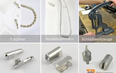 T-Splinte und Kordelklammern Griff für Taschen